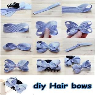 diy Hair bows - náhled