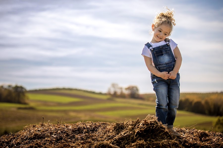 Farmer Girl by Mike DeMicco - Babies & Children Child Portraits