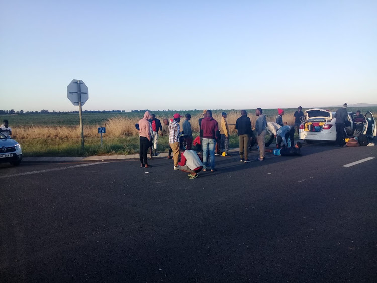 Student activists during their walk from KwaZulu-Natal to Pretoria.