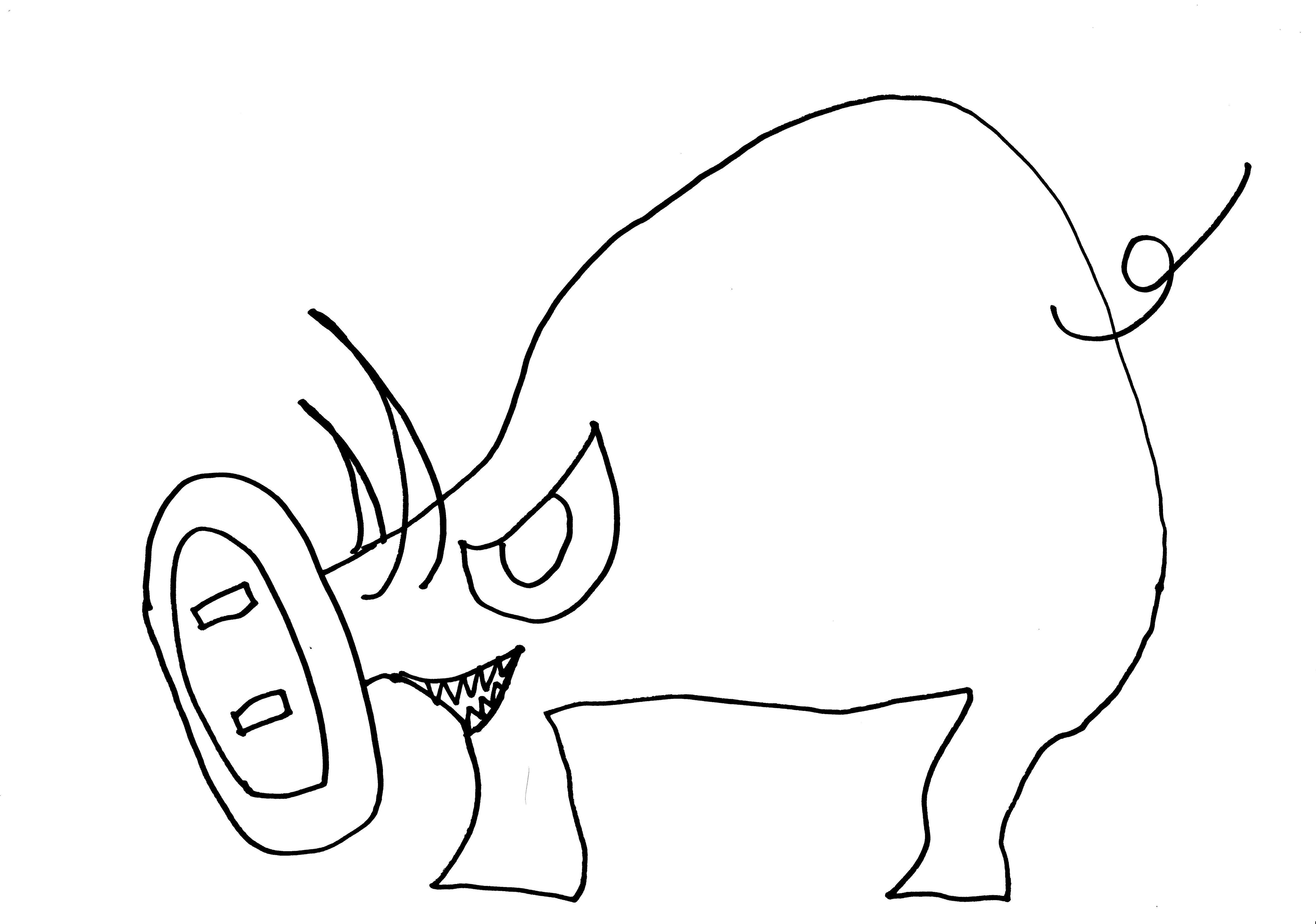 イボイノシシを描いてみました。