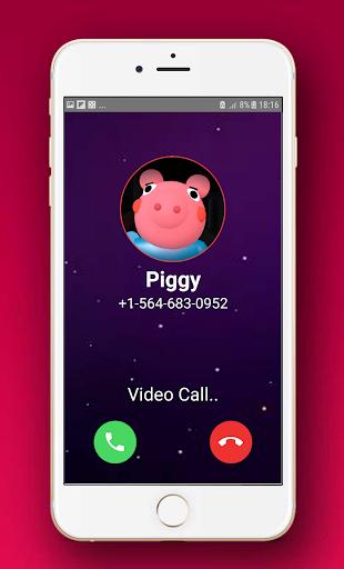 scary piggy roblx fake video call & chat simulator screenshot 2