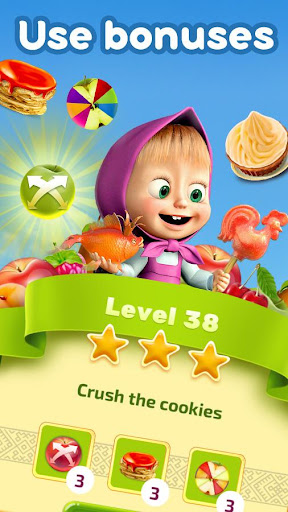 Masha and The Bear Jam Day Match 3 games for kids 1.4.47 screenshots 3