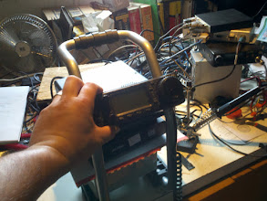 Photo: Originally, my plan was to put the battery at the base and stack the rest on top of it.