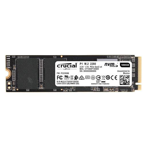 Ổ cứng SSD Crucial P1 M.2 2280 1TB NVMe PCIe Gen3 x4 (CT1000P1SSD8)
