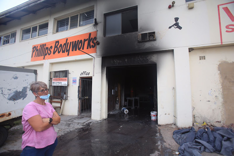 Phillips Bodyworks in East London was gutted by fire