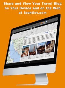 Jauntlet Travel Blog & Journal- screenshot thumbnail