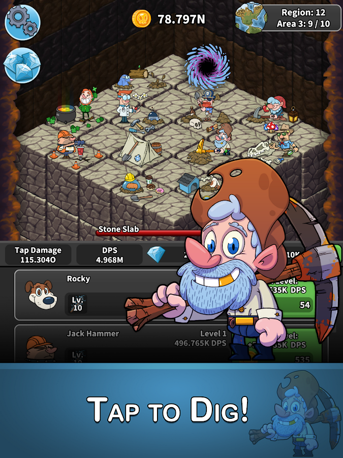 Tap Tap Dig - Idle Clicker Game (Unreleased)- screenshot