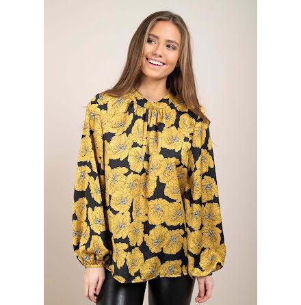 Dry Lake Tilly blouse yellow rose print