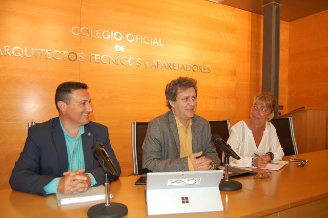Serafín Felices, Jesús Lara y Marisa Cirugeda, en la presentación de los actos.