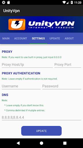 UnityVPN 1.9.1 screenshots 2