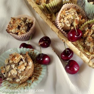 Cherry Oatmeal Crumble Top Muffins