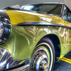 A Stud is Born by Nathaniel Jorge - Transportation Automobiles ( car, studebaker, hdr, chrome, headlight, yellow, trim, classic )
