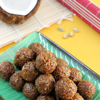 Coconut Ladoo Recipe With Jaggery   Kobbari Louz