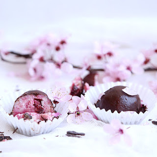 Cherry Coconut Truffles with Chocolate Coating