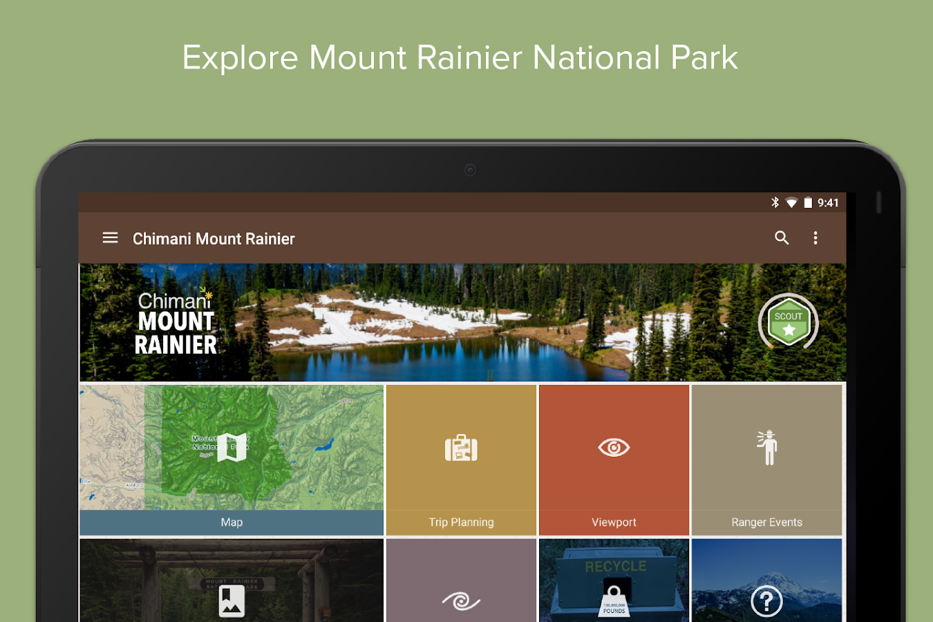 Mount Rainier NP by Chimani- screenshot