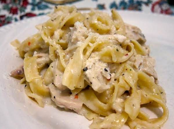 Creamy Chicken And Wide Noodles (almost Fettuccine) Recipe
