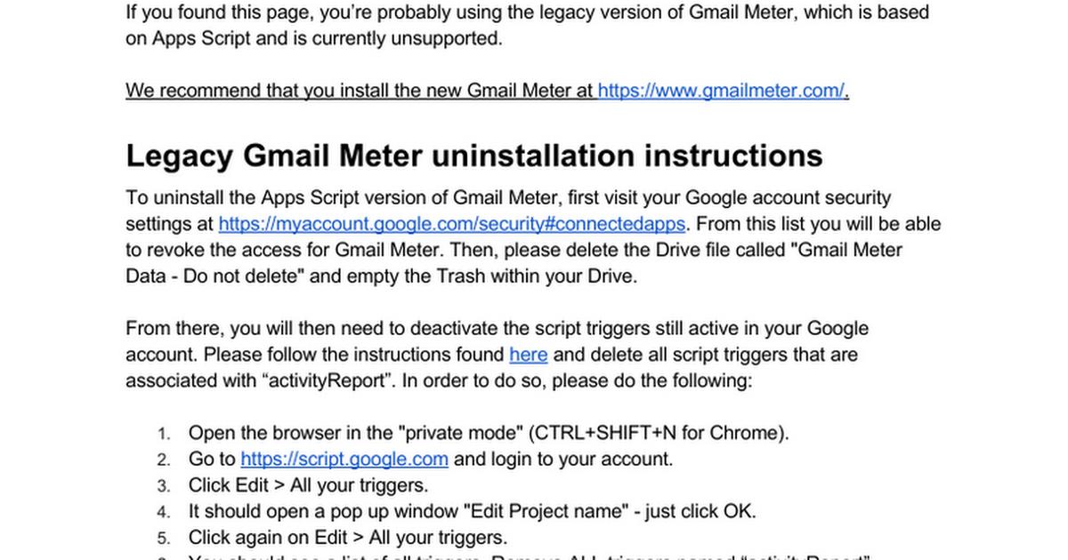 Legacy Gmail Meter Faq Google Docs