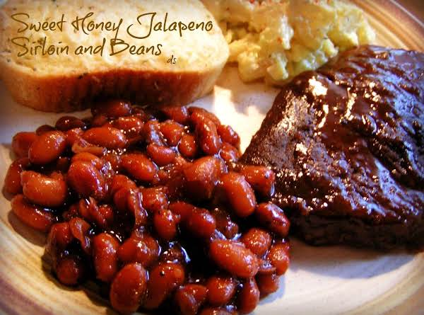 Sweet Honey Jalapeno Sirloin And Beans