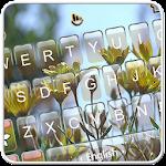 Live 3D Spring Rainy Flower Keyboard Theme