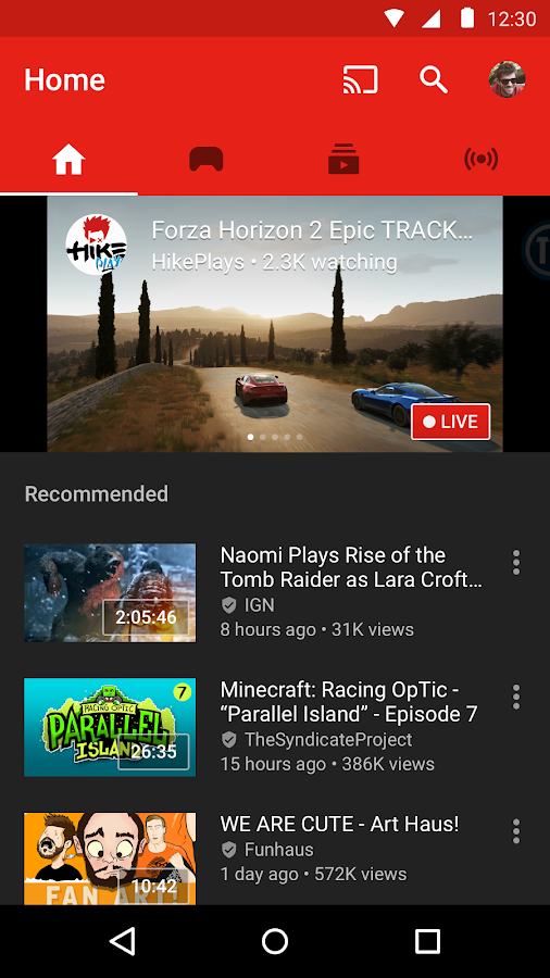 YouTube Gaming- screenshot