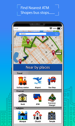 Voice GPS Driving Route : Gps Navigation & Maps screenshot 2