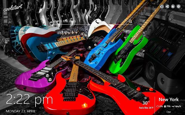 Guitars HD Wallpapers Music New Tab Theme