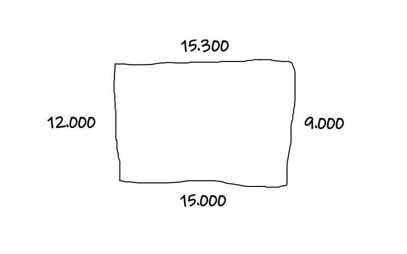 多角形をイメージして、角と辺を可視化すると複雑な地形でも図形として計測していくことができます。