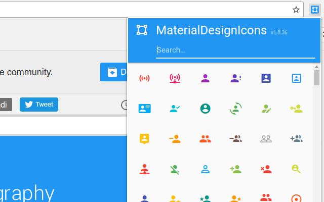 MaterialDesignIcons Picker