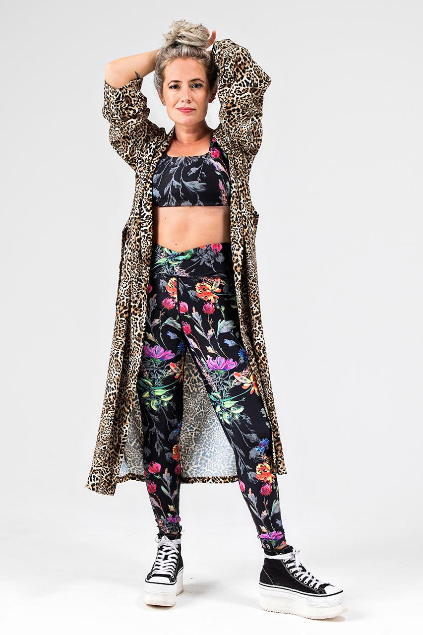Kathryn Yoga Duster in Leopard