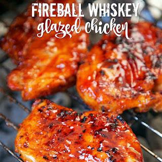 Fireball Whiskey Glazed Chicken.