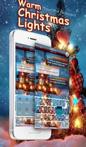 Warm Snowy Tree Keyboard Theme screenshot