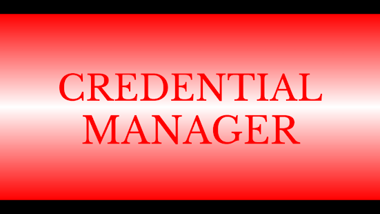 Credential Manager- screenshot thumbnail