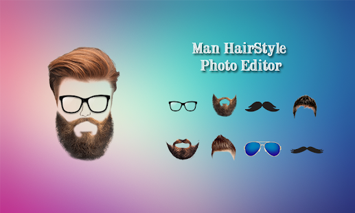 Man Beard photo Editor Mustache :Hairstyle Changer - Slunečnice.cz