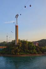 Photo: Cable car to Sentosa Island