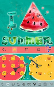 Summer watermelon for Keyboard screenshot 2