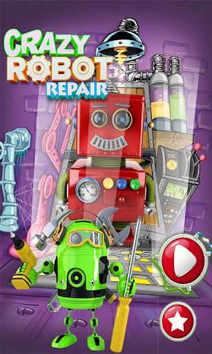 crazy robot repair: fixing & repairing game screenshot 1