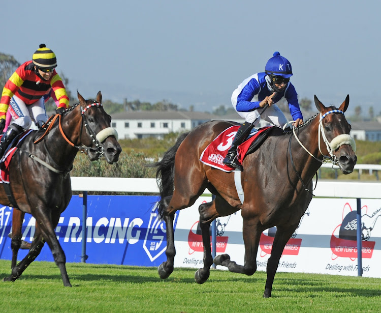 Linebacker wins the Cape Derby with Grant van Niekerk in the saddle during the 2021 Cape Derby Race at Kenilworth Racecourse in Cape Town, February 27 2021. Picture: PETER HEEGER/GALLO IMAGES