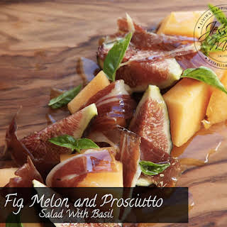 Fig, Melon and Prosciutto Salad With Basil.