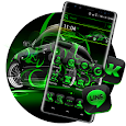 Neon Green Car Launcher Theme icon