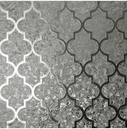 Arthouse Velvet Foil Trellis Tapet 294603 Silver