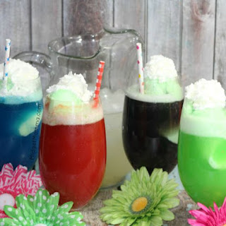 Sherbert Float Inside Out Drinks (Inspired By Disney's Inside Out Movie).