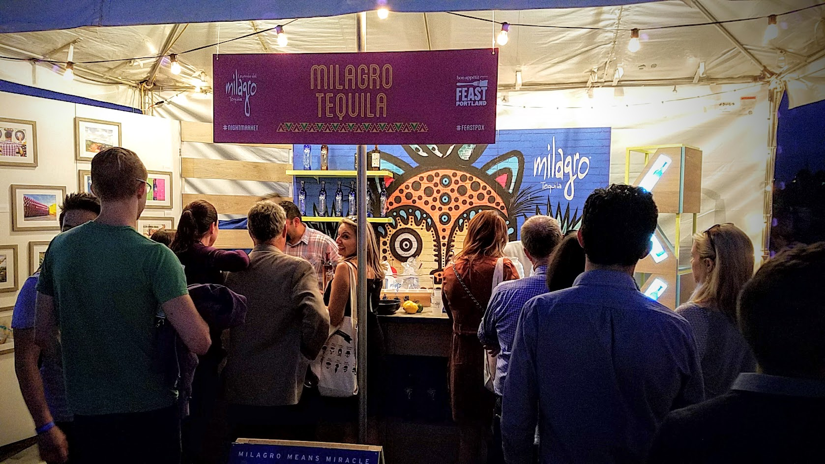 At Feast PDX Night Market 2016 Milagro Tequila had options of Agua Frescas and Horchata to combine (or not) with their tequila tastings