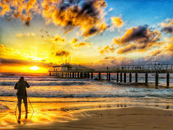 Il tramonto al pontile