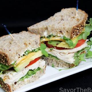 Pea Shoots and Chicken Sandwich Recipe