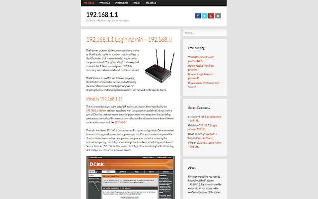 192.168.1.1 - Chrome Web Store