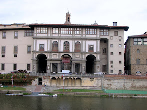 Photo: The Ufuzzi, now a museum but formerly the Medici offices.