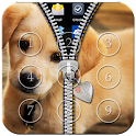 Cute Puppy Zipper Lock icon