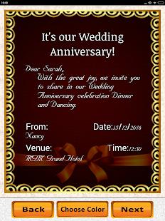 Anniversary invitation maker party wedding wishes android apps anniversary invitation maker party wedding wishes screenshot thumbnail stopboris Choice Image