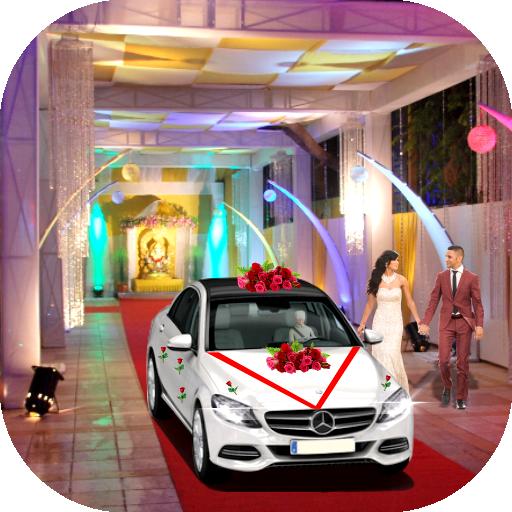 Luxury Wedding City Car Driving