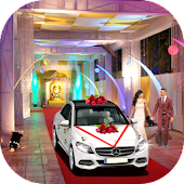 Luxury Wedding City Car Driving